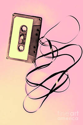 Old Tape On Pink Background Art Print by Jorgo Photography - Wall Art Gallery