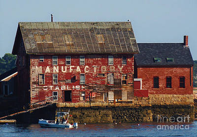 Old Tarr And Wonson Paint Factory. Gloucester, Massachusetts Art Print