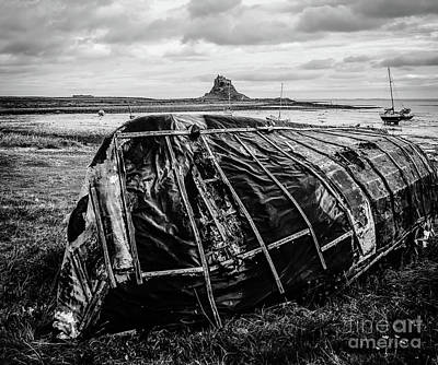 Photograph - Old Tarred Boat On Holy Island by Lexa Harpell
