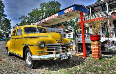 Vintage Taxi Cabs Photograph - Old Taxi 1 by Todd Hostetter