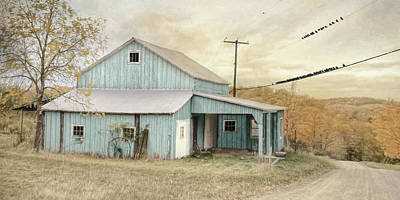 Photograph - Old Teal Barn by Lori Deiter