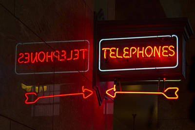 Photograph - Old Telephone Sign by Jean Noren