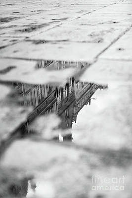Photograph - Old Tenement Buildings Reflecting In A Puddle. by Michal Bednarek