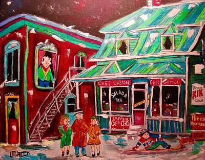 Painting - Old Terrebonne Chez Gaston by Michael Litvack
