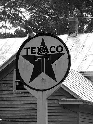 Photograph - Old Texaco Gas Station by Jennie  Richards