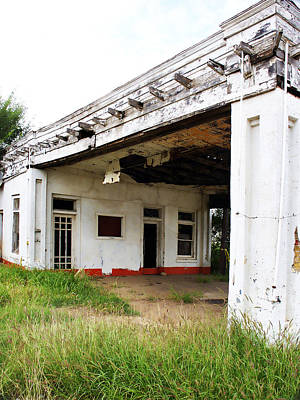 Overhang Photograph - Old Texas Gas Station by Marilyn Hunt