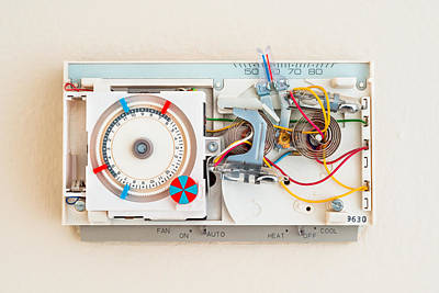 Photograph - Old Thermostat by Alexander Kunz