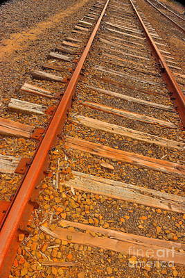 Photograph - Old Ties And Rusty Rails by Jesse Ciazza