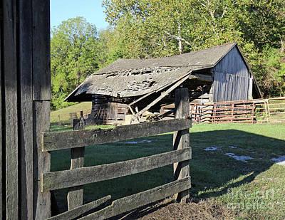 Old Tilted Barn Indiana Art Print