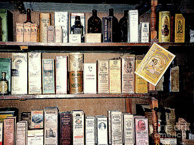 Photograph - Old-time Apothecary Shop - Farmer's Museum - Cooperstown, Ny  by Merton Allen