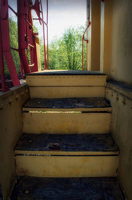 Photograph - Old Time Caboose Steps by Tikvah's Hope