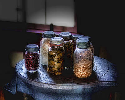 Jars Photograph - Old-time Canned Goods by Tom Mc Nemar