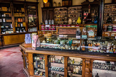 Clock Shop Photograph - Old Time Cures by Adrian Evans