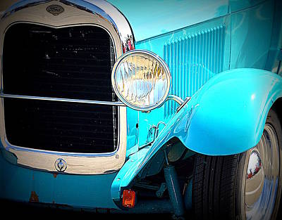 Photograph - Old Time Fender Blue by Kimberly-Ann Talbert