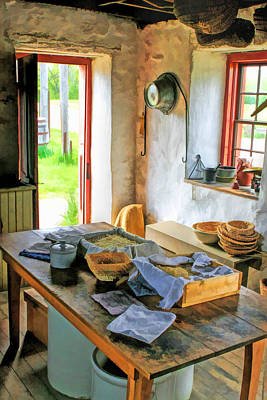 Old World Painting - Old Time Kitchen At Old World Wisconsin by Christopher Arndt