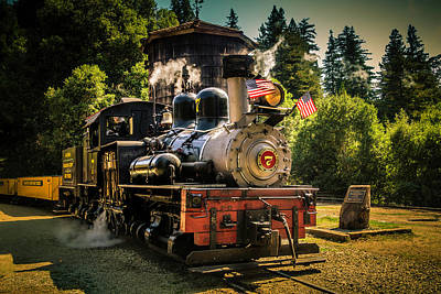 Headlight Photograph - Old Time Locomotive Sonora by Garry Gay