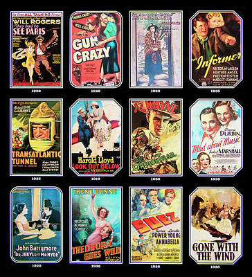 Photograph - Old Time Movie Posters by Paul W Faust - Impressions of Light