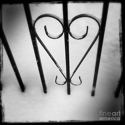 Photograph - Old - Time New York - Hearts In The Snow by Miriam Danar