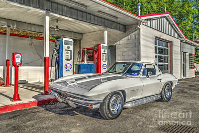 Photograph - Old Time Service Station With 1967 Corvette  by Dan Friend