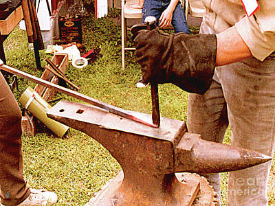 Photograph - Old Time Smithing - Farmers Museum, Cooperstown, Ny by Merton Allen
