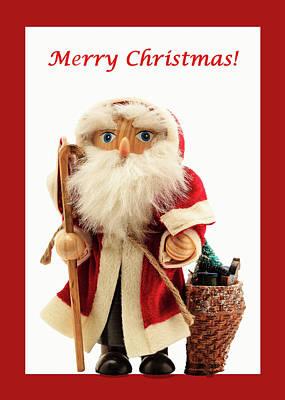Photograph - Old Time St. Nick Christmas Card by Joni Eskridge