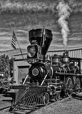 Photograph - Old Time Train In Black And White by Garry Gay