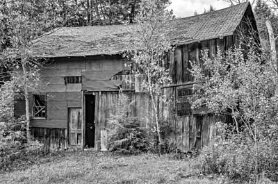 Barn Photograph - Old Timer 3 Bw by Steve Harrington