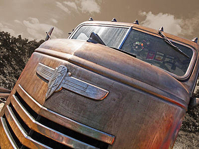 Old Timer - '42 Chevy Art Print by Gill Billington