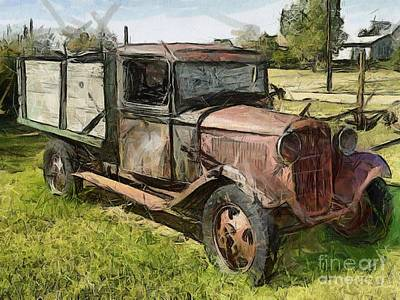 Old Timer Print by Murphy Elliott