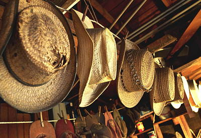 Cowboy Hat Photograph - Old Timer's Garage 2 by Gwyn Newcombe