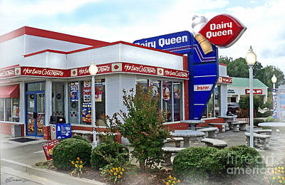 Old Timey Dairy Queen Art Print by Patricia L Davidson