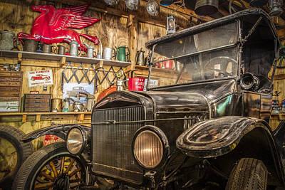 Old Timey Garage Art Print by Debra and Dave Vanderlaan