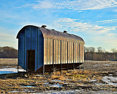 Photograph - Old Tin Crib by Kathy M Krause