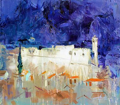Montenegro Painting - Old Tivar Castle, Montenegro by Azem Kucana