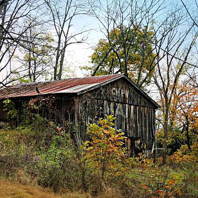 Photograph - Old Tobacco Barn by Brenda Conrad