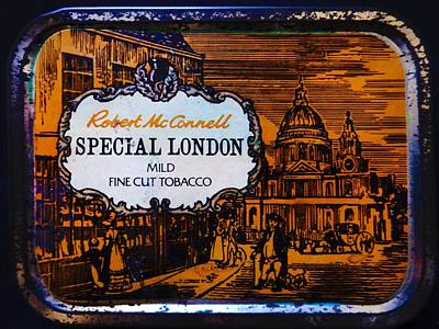 Photograph - Old Tobacco Tin by Mark Blauhoefer