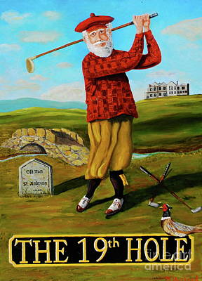 Painting - Old Tom Morris by Brian Hustead