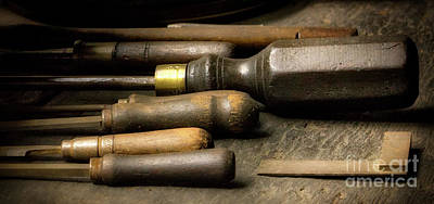 Photograph - Old Tools by Jerry Fornarotto