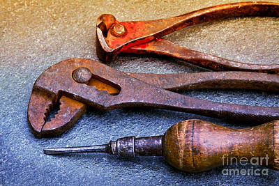 Photograph - Old Tools by Lutz Baar