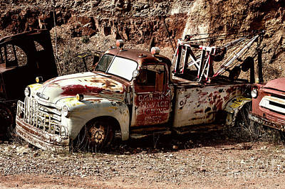 Photograph - Old Tow Truck by M G Whittingham