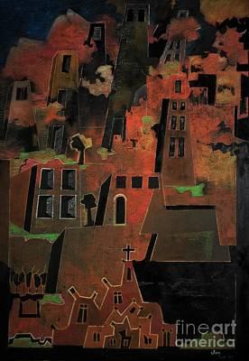 Painting - Old Town by Adalardo Nunciato  Santiago