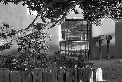 Photograph - Old Town Albuquerque Pueblo In Black And White by Gregory Ballos