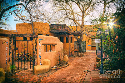 Luminaria Photograph - Old Town Albuquerque Secret Passageway  - Albuquerque New Mexico by Silvio Ligutti