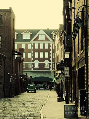 Another Time Photograph - Old Town Alleyway, Portland by Marcia Lee Jones