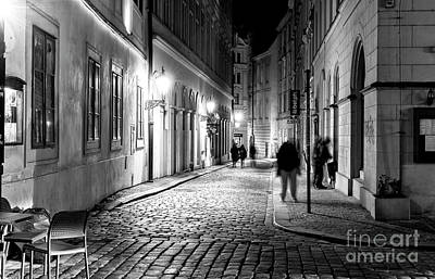 Photograph - Old Town At Night by John Rizzuto