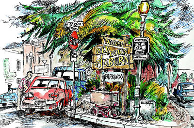 Painting - Old Town Auburn by Terry Banderas
