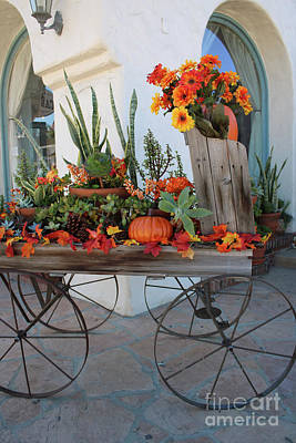 Old Town Autumn Wagon Art Print