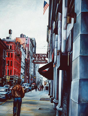 Wall Art - Painting - Old Town Bar, New York City by Gaye Elise Beda