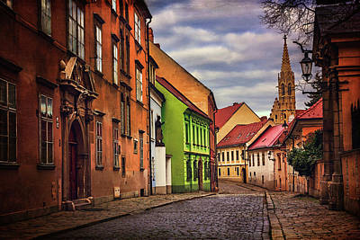Red Roof Photograph - Old Town Bratislava  by Carol Japp