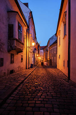 Photograph - Old Town By Night In Bratislava City by Artur Bogacki
